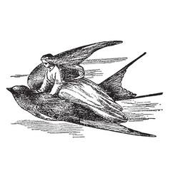 Thumbelina vintage vector