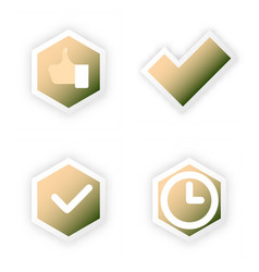 tick and cross test signs set check marks graphic vector image