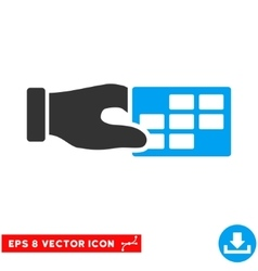 Timetable Properties Eps Icon vector