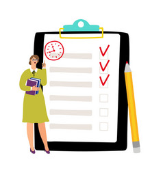 to do list concept undone checklist deadline vector image