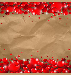 valentines day border cardboard background vector image