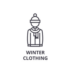 winter clothing line icon outline sign linear vector image
