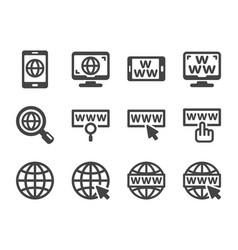 www icon set vector image