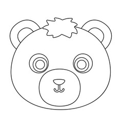 bear muzzle icon in outline style isolated on vector image vector image
