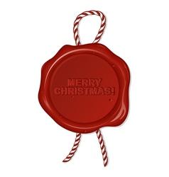 christmas seal vector image