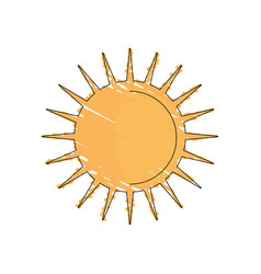 drawing sun weather day image vector image