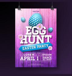 egg hunt easter party flyer vector image vector image