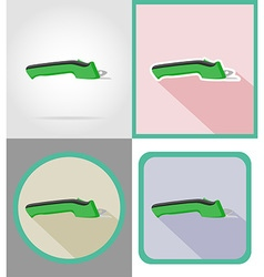 electric repair tools flat icons 13 vector image vector image