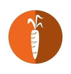 fresh carrot vegetable healthy icon orange circle vector image vector image