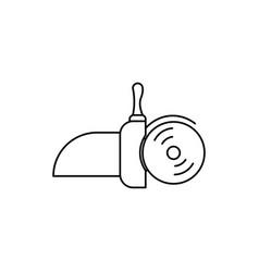 hand circular saw icon vector image vector image