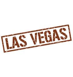 las vegas brown square stamp vector image