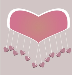 Little hearts hanging vector image vector image