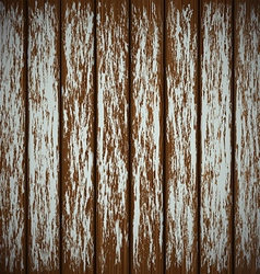 Old wooden wall with peeling paint vector image vector image