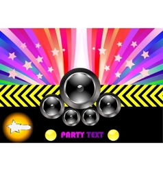party flyer with rainbow vector image vector image