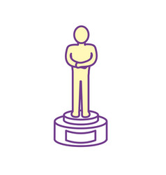 prize to cinematography producer film vector image vector image