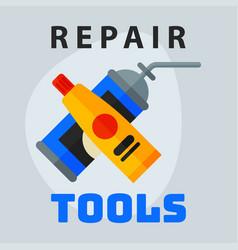 repair tools adhesive foam icon creative graphic vector image