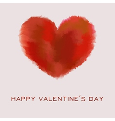 Valentines Day card with watercolor heart and text vector image