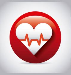 cardio measure design vector image
