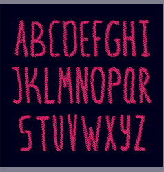 embroidered english alphabet vector image