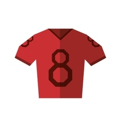 Red jersey american football tshirt uniform vector