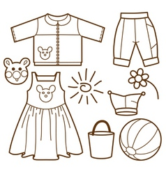 set for children vector image