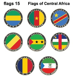 World flags Central Africa vector image