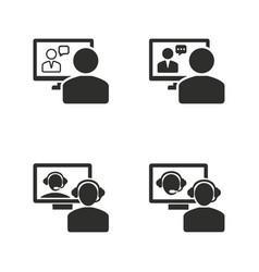 conferece icon set vector image vector image