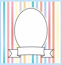 photo frame on pastel stripes background vector image