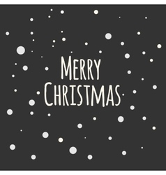 Snow night background Greeting Card Merry vector image