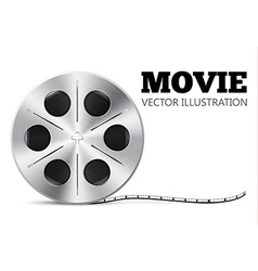 film roll isolated on white realistic object vector image