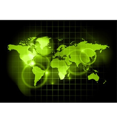 green map of the world vector image vector image
