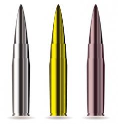 gun bullet vector image vector image