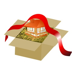 house building concept vector image vector image