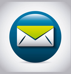 mail icon design vector image vector image