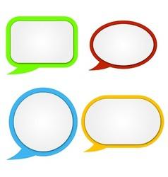 Paper color speech baubles vector image vector image