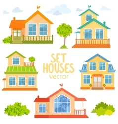 set houses vector image vector image