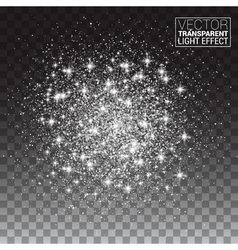 Sparkling background Silver Explosion on vector image