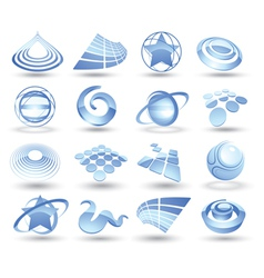Abstract space icons vector