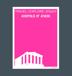 acropolis of athens greece monument landmark vector image