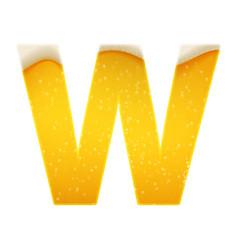 alphabet in form lemonade or beer vector image