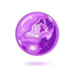 Amazing round shape amethyst cristal magic ball vector