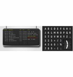Analog scoreboard font on dark background vector