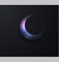 Arabic ramadan on black background moon stars vector