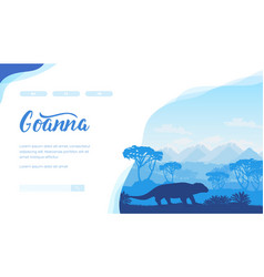 Australian landscape with goanna trees mountains vector