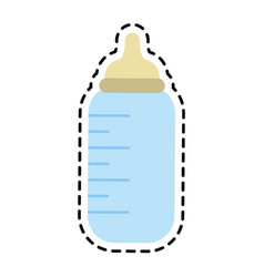 Baby bottle icon image vector