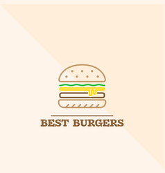 best burgers icon vector image