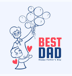 Best dad message for happy fathers day vector