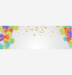 birthday card celebration carnival bright vector image