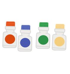 bottle multicolored paints watercolor gouache vector image