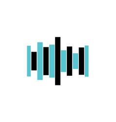 business bar growth logo design template vector image